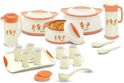 BMS Lifestyle _01 GoodDay Designer Insulated Hot Pot 21-Piece Gift Set Casserole Set(1000 ml, 1500 ml, 2500 ml)