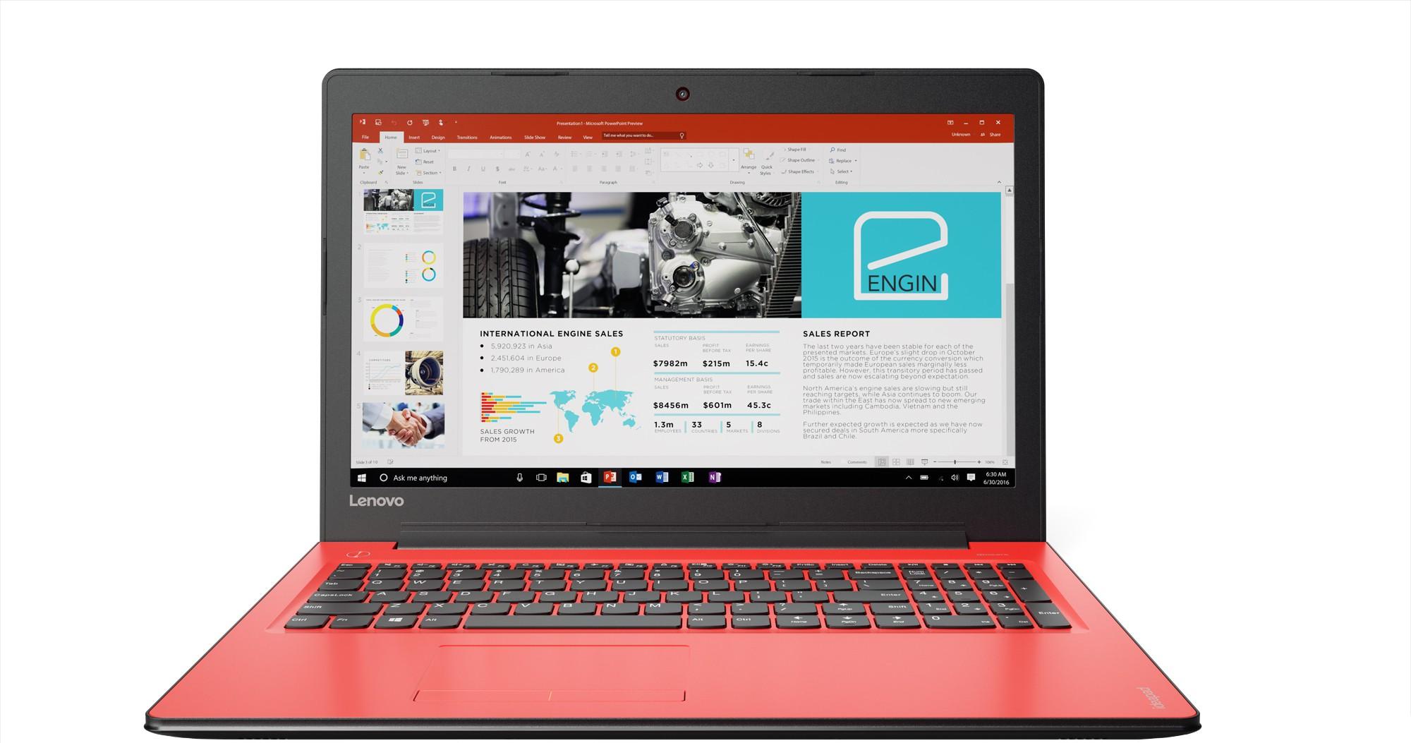 View Lenovo Ideapad 310 Core i5 7th Gen - (4 GB/1 TB HDD/Windows 10 Home/2 GB Graphics) IP 310-15IKB Notebook(15.6 inch, Flamenco Red, 2.2 kg) Laptop