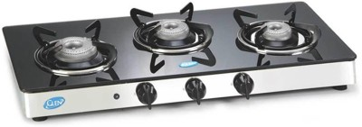 Glen Glen GL-1033-GT-AL-Ai Glass Cooktop Glass Automatic Gas Stove(3 Burners)