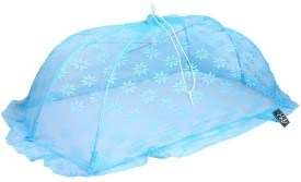 Weavers Villa Polyester Infants New Born Canopy Style Baby (0-12 Months) Mosquito Net(Blue)