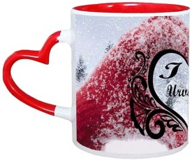 Muggies Magic Urvisha Love Name Design 11Oz Ceramic Mug(325 ml)