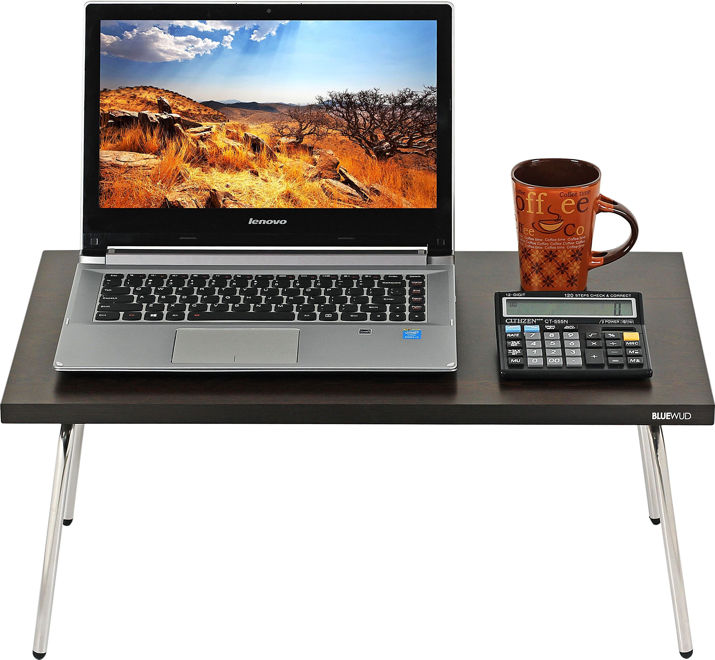 View Bluewud Monroe Engineered Wood Portable Laptop Table(Finish Color - Wenge) Furniture (Bluewud)
