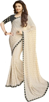 Active Embroidered Bollywood Georgette Saree(Black)