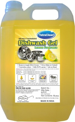 TetraClean Dishwash Gel Dish Cleaning Gel(Fresh Lemon)