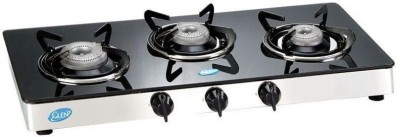 Glen Glen GL 1033 GT 3 Burner Manual Gas Stove Glass Manual Gas Stove(3 Burners)