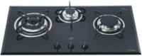 Glen Glen GL-1073-TR Glass Built in Hob Glass Automatic Gas Stove(3 Burners)