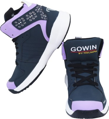Gowin By Triumph Neo Boost_Navy/Violet Basketball Shoes(Navy, Purple, White)