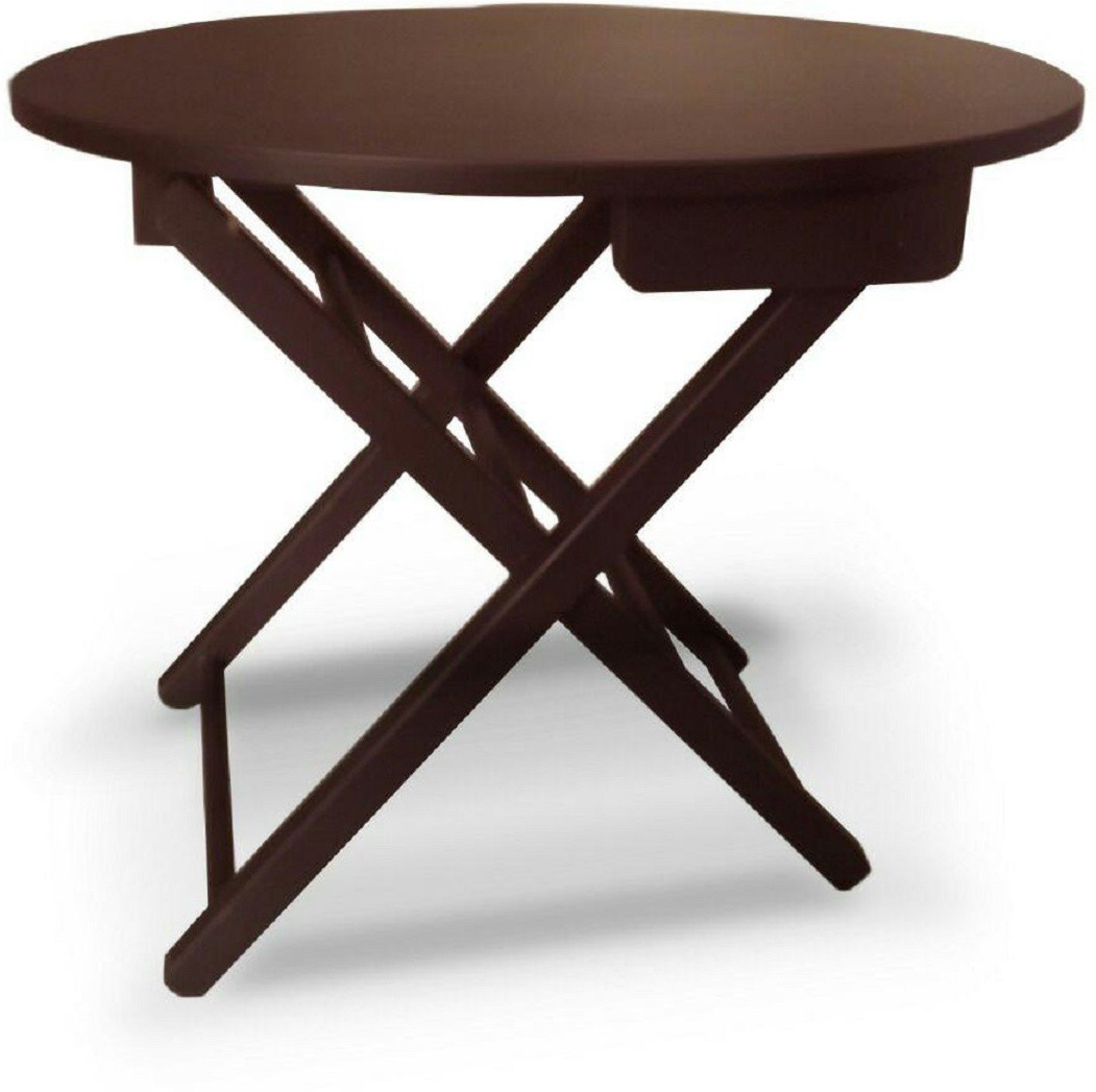 View Colorwood Renia Oval Shape Solid Wood Side Table(Finish Color - Maroom) Furniture (Colorwood)