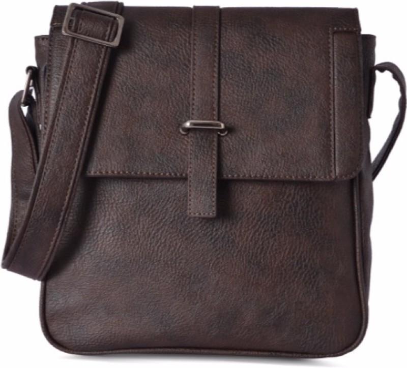 Baggit Men Brown Pu Sling Bag