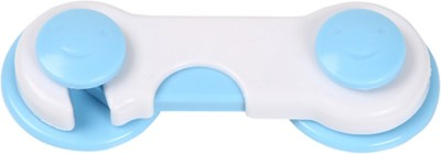 Safe-O-Kid Easy to Use, Durable, Colorful Child Proof Cabinet Lock (Pack of 1)(WHITE & BLUE)