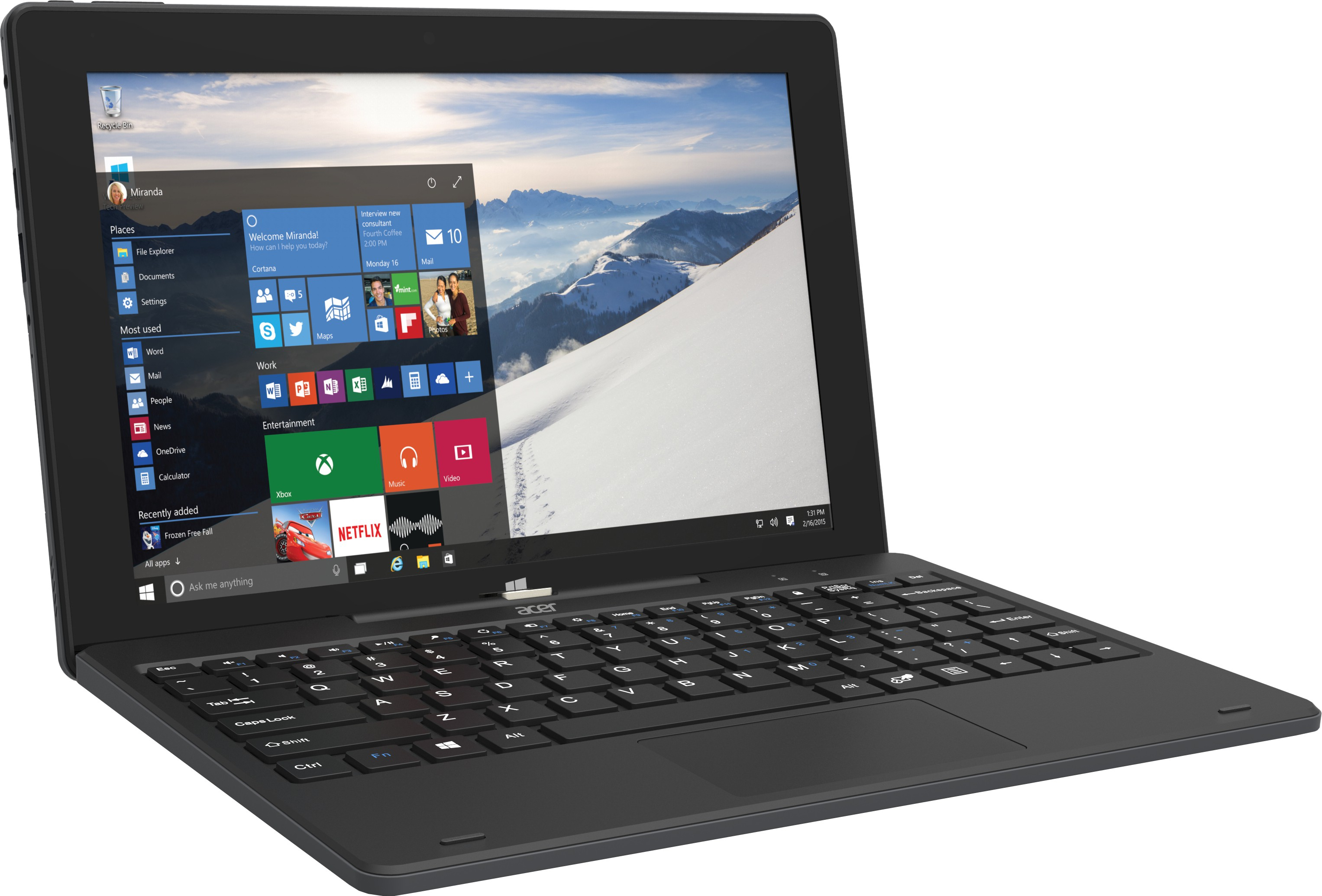 Acer Switch One Atom Quad Core - (2 GB/32 GB EMMC Storage/Windows 10 Home) SW110-1CT 2 in 1 Laptop(10.1 inch, Black) (Acer) Tamil Nadu Buy Online