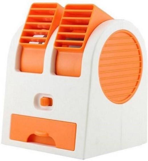 View Akline Dual Bladeless Mini Air Cooler Fragrance Cooling 8 Blade Table Fan(Orange) Home Appliances Price Online(Akline)