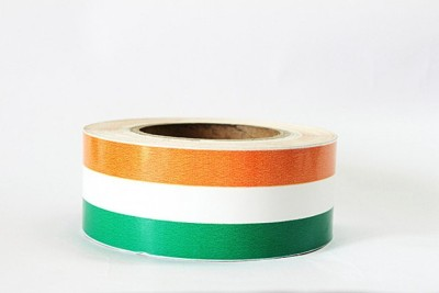 Laps of Luxury GD437 Tri Color Non Reflective Tape 50.8 mm x 18.28 m Orange, White, Green Reflective Tape(Pack of 1)