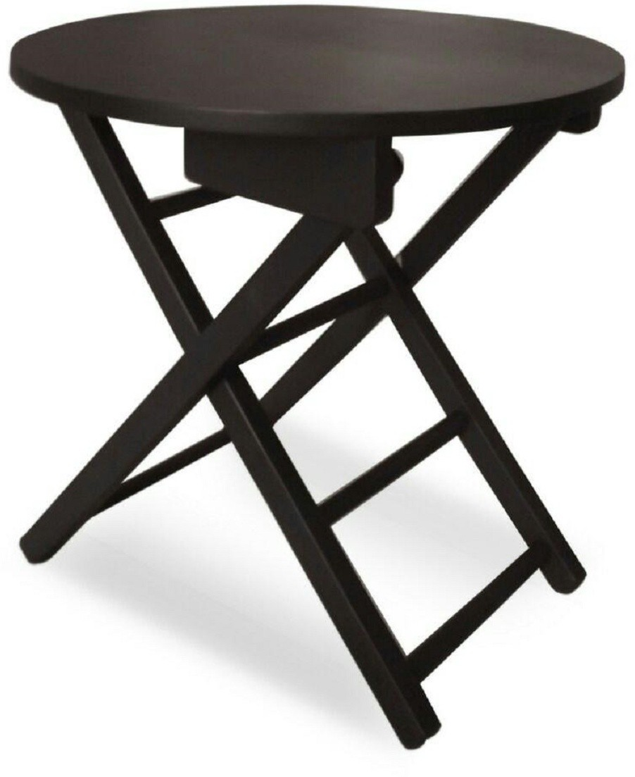 View Colorwood Ginni Round shape Solid Wood Bedside Table(Finish Color - Black) Furniture (Colorwood)