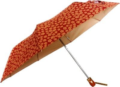 Sun Brand Christina 6- 3 Fold UV Protective Umbrella(Yellow, Pink)