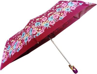 Sun Brand Christina 7- 3 Fold UV Protective Umbrella(Yellow, Pink)