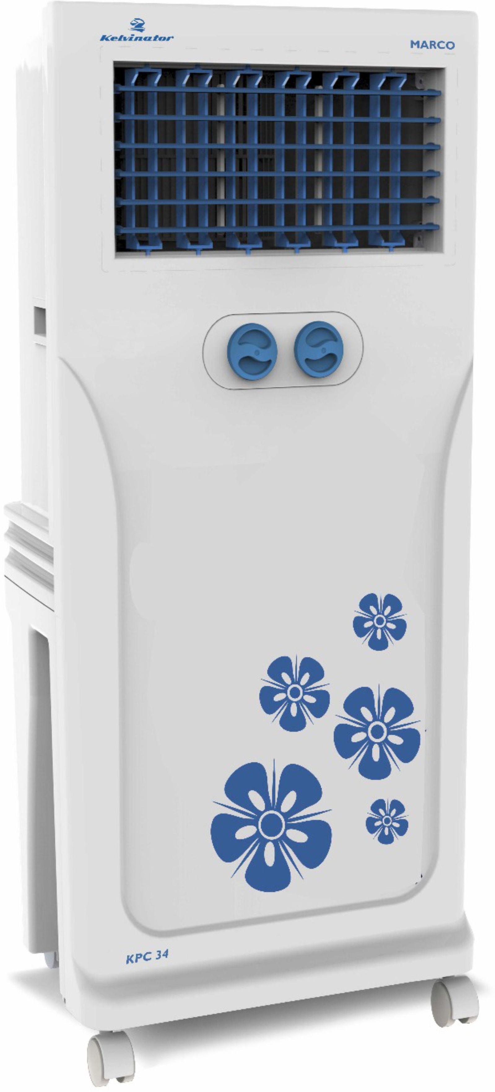 View Kelvinator MARCO KPC 34 Personal Air Cooler(White, 34 Litres) Price Online(Kelvinator)