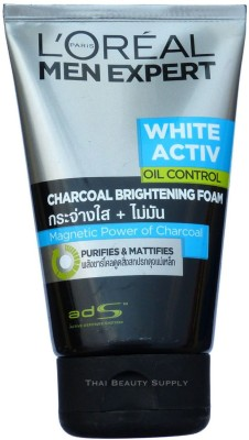 LOreal Men Expert White Activ Oil Control Charcoal Brightening Foam Face Wash(149 ml)