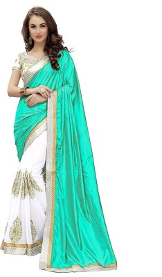 Active Embroidered Fashion Art Silk Saree(Green)