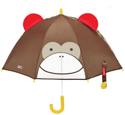 Skip Hop Zoobrella Little Kid Umbrella-Monkey Umbrella(Multicolor)