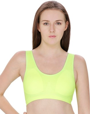 Trendzino by Provique - Fitness Gym Running Yoga Shirts Girls, Womens Green Bra
