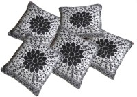 Hargunz Abstract Cushions Cover(Pack of 5, 40 cm*40 cm, Black, Grey)