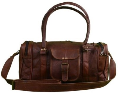 Pranjals House genuine leather duffle cum gym bag (Expandable) Travel Duffel Bag(Brown)