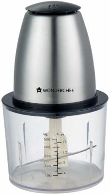 Wonderchef Electric Push Chopper 63152274 300 W Hand Blender(Silver, Black)