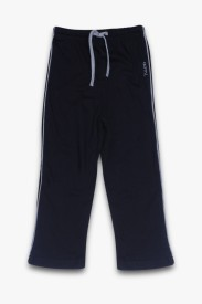 AOMI Track Pant For Boys(Black Pack of 1)