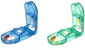 Ezy Set of 2 Manual Pill Cutters(Blue, Green)