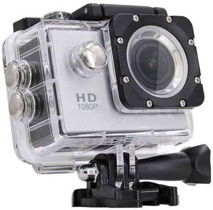 View Doodads Action Pro HD Action Adventure Camera 130 degree Wide angle lens sports Camera (Assorted) Sports and Action Camera(Black 12) Camera Price Online(Doodads)