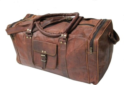 Pranjals House vintage leather (Expandable) Travel Duffel Bag(Brown)