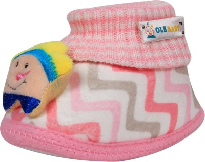 Ole Baby Boys & Girls Slip on Casual Boots(Pink)