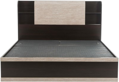 Durian MORRIS/KB Engineered Wood King Bed With Storage(Finish Color - Smoke Oak)