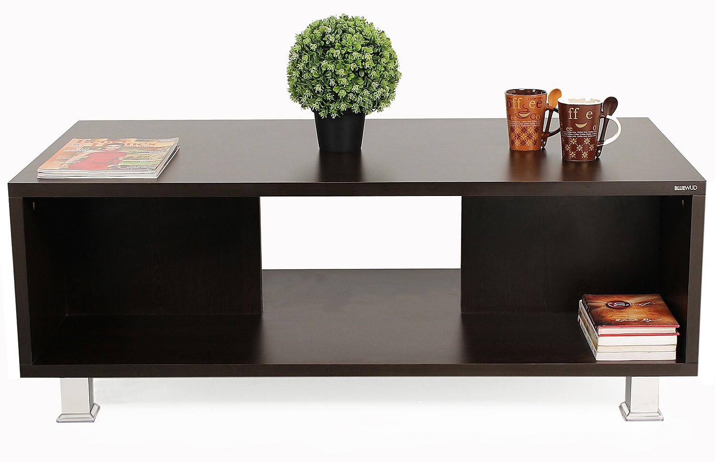View Bluewud Leo Engineered Wood Coffee Table(Finish Color - Wenge) Furniture (Bluewud)