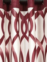 Cortina Polyester Maroon Floral Eyelet Window Curtain(150 cm in Height, Single Curtain)