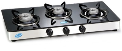 Glen Glen GL 1033 GT 3 Manual Glass Automatic Gas Stove(3 Burners)