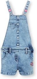 Barbie Girls Midi/Knee Length Casual Dress(Blue, Sleeveless)