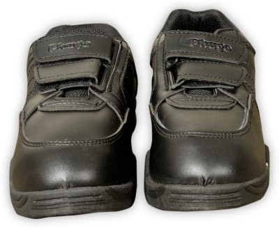 6Four shoes Boys Strap Formal Boots(Black)