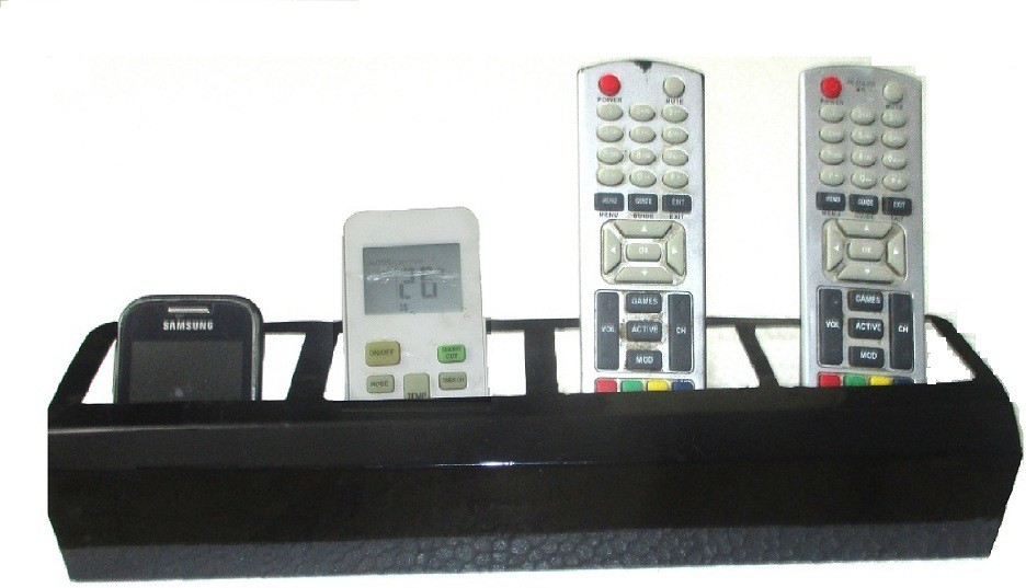 View Action World Remote,TV, AC Stand Black 4 Shelves Iron Wall Shelf(Number of Shelves - 4, Black) Furniture (Action World)