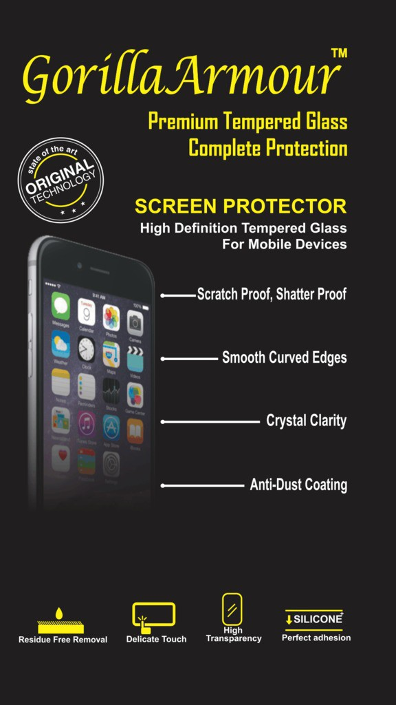 Gorilla Armour Tempered Glass Guard for Lenovo Vibe K6 Power