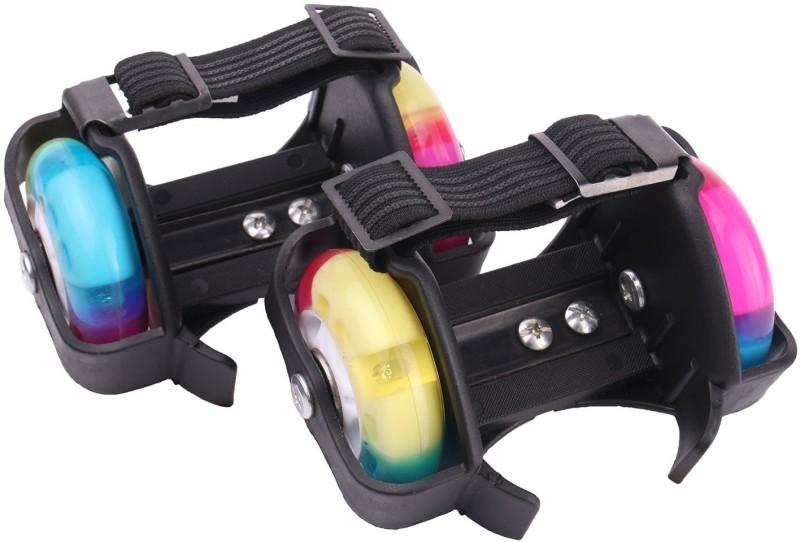 Strauss Flashing Street Quad Roller Skates - Size NA UK(Black)