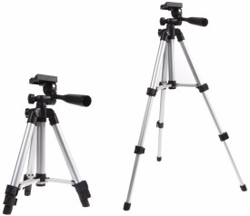 technuv 3110 Tripod(Black, Silver, Supports Up to 1200 g)