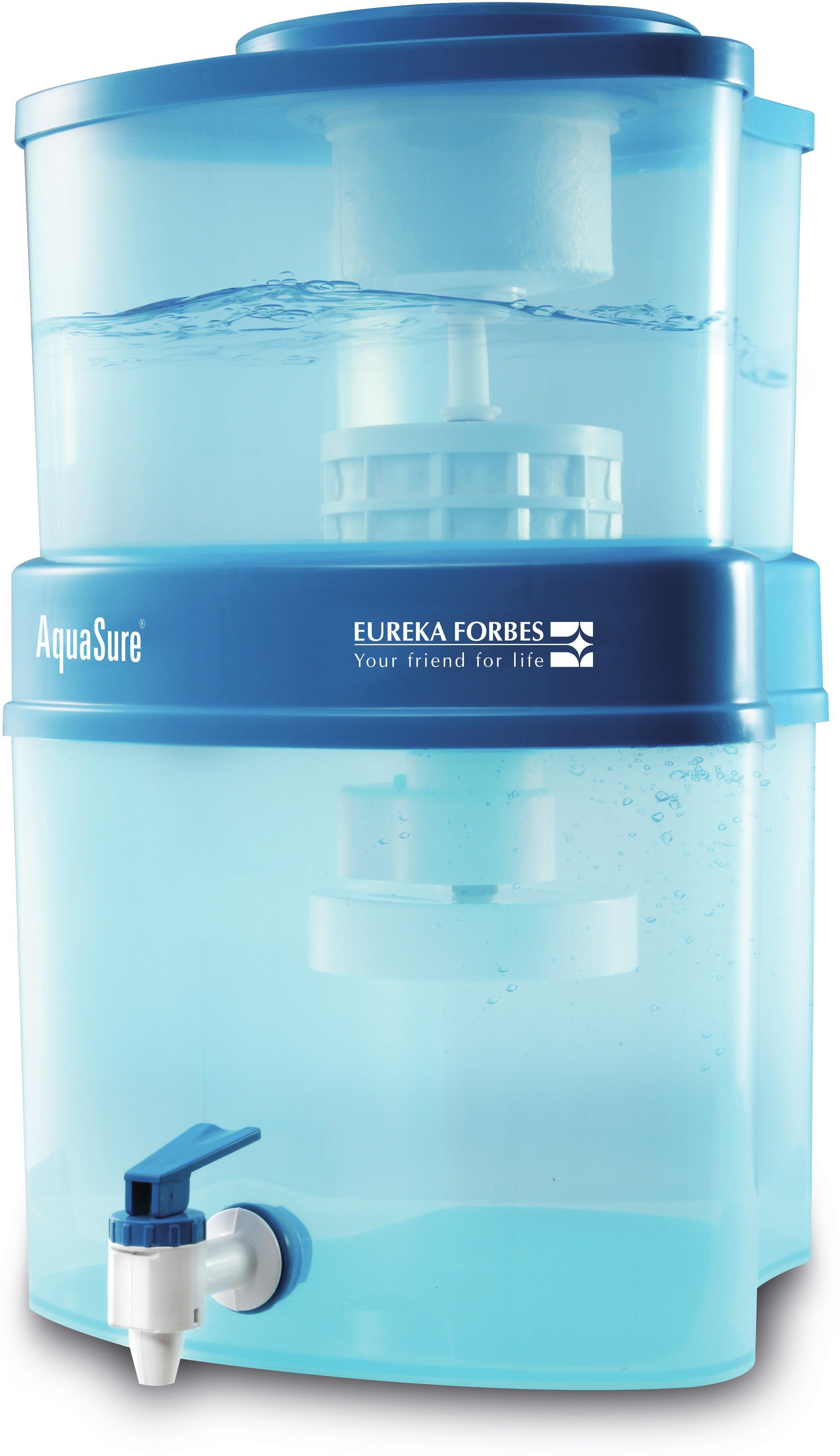 View Aquasure Maxima 10 L Gravity Based Water Purifier(Blue) Home Appliances Price Online(Aquasure)