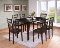 FurnCulture Liguria Solid Wood 6 Seater Dining Set(Finish Color - Brown)