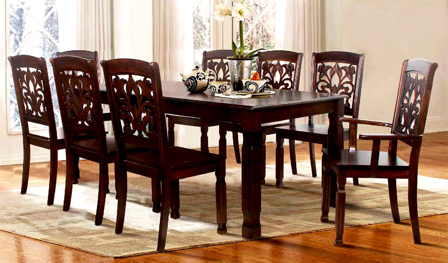 f1a0670d988 FurnCulture Furniture Price List. FurnCulture Sapporo Solid Wood 8 Seater  Dining Set(Finish ...