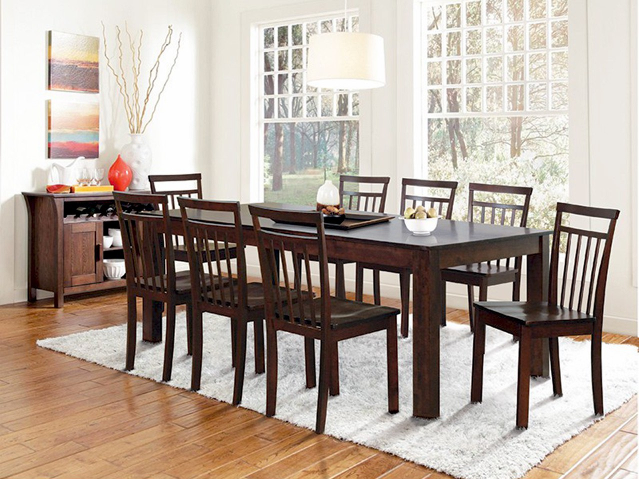 View FurnCulture Terrassa Solid Wood 8 Seater Dining Set(Finish Color - Brown) Furniture (FurnCulture)