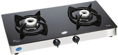 Glen Glen GL-1021 GT Glass Cooktop Glass Manual Gas Stove(2 Burners)