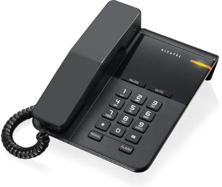 View Alcatel T-22 Corded Landline Phone(Black) Home Appliances Price Online(Alcatel)