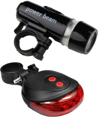 FurMito Power Beam Front and 2 Laser LED Front Rear Light Combo(Black, Red)